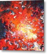 Fire Blazing In The Sky Metal Print