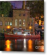 Fire Boat On Cuyahoga River Metal Print