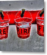 Fire Buckets Metal Print