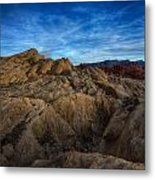 Fire Canyon Twilight Metal Print