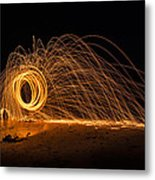 Fire Circle Metal Print by Tin Lung Chao