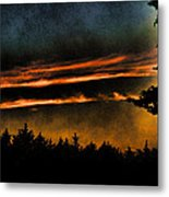 Fire Clouds Metal Print