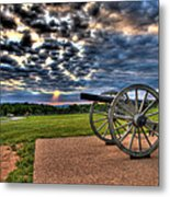Fire Clouds Over A Gettysburg Cannon Metal Print