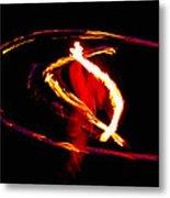 Fire Dancer 2 Metal Print