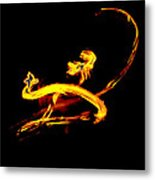Fire Dancer 3 Metal Print