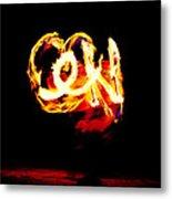 Fire Dancer 4 Metal Print