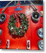 Fire Department Christmas 1 Metal Print