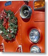 Fire Department Christmas 2 Metal Print