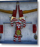 Fire Department Christmas 3 Metal Print