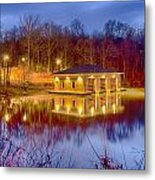Fire Department Rescue Building On Water Metal Print