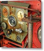 Fire Department Tanker Controls Metal Print