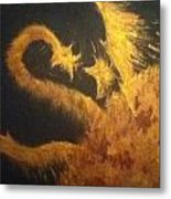 Sun Dragon Metal Print