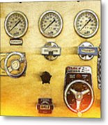 Fire Engine Panel Metal Print