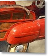 Fire Engine Pedal Car Metal Print