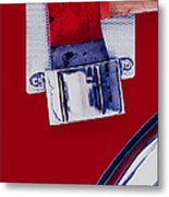 Fire Engine Red And Chrome Metal Print