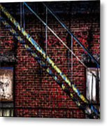 Fire Escape And Windows Metal Print
