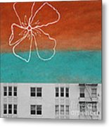 Fire Escapes Metal Print by Linda Woods