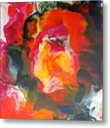 Fire Flower Abstract Metal Print