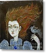 Fire Haired  Girl Metal Print