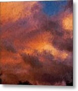 Fire In The Clouds Metal Print