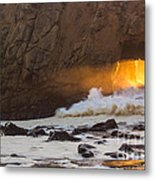 Fire In The Hole Metal Print