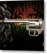 Fire In The Jungle Metal Print