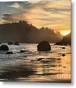 Fire In The Sand Metal Print by Adam Jewell