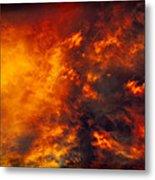 Fire In The Skies Metal Print