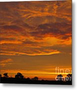 Fire In The Sky Metal Print by Ann Horn