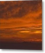 Fire In The Sky At Sunset Over The Gulf Of The Farallones Metal Print