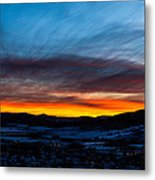Fire In The Sky - Steamboat Sunset Metal Print
