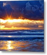 Fire On The Horizon Metal Print