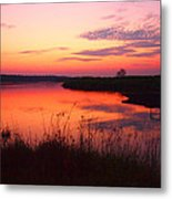 Fire On The Nile Metal Print
