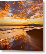 Fire Over Lahaina Metal Print