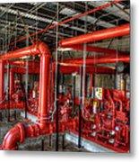 Fire Pump Metal Print