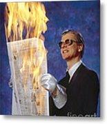 Fire Reader Metal Print