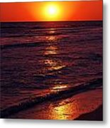 Fire Red Sunset Metal Print