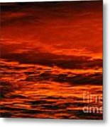 Fire Reds Sunset Metal Print by Rebecca Christine Cardenas