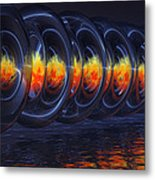 Fire Rings Metal Print