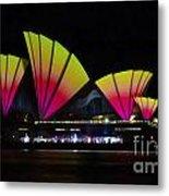 Fire Sails - Sydney Vivid Festival - Sydney Opera House Metal Print