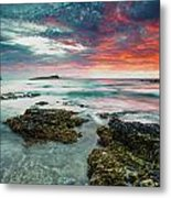 Fire Sky Explosion Metal Print