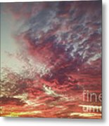 Fire Sky Metal Print by Holly Martin