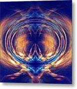 Fire Spin 1 Metal Print