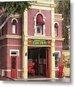 Fire Station Main Street Disneyland 02 Metal Print