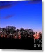 Fire Tower Watch In The Distance Metal Print