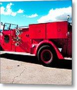 Fire Truck  Metal Print by Lisa Cortez