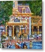 Fire Truck Main Street Disneyland Photo Art 02 Metal Print