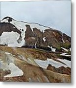 Fire Water And Ice Metal Print