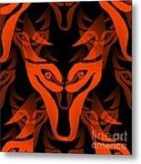 Fire Wolf Metal Print