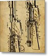 Firearm - Patented On 1907 Metal Print